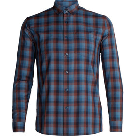Icebreaker Departure II LS Shirt Men Midnight Navy/Granite Blue/Plaid
